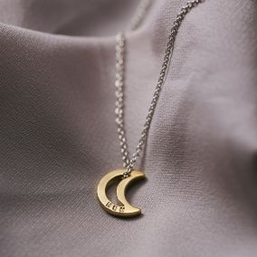 Personalised Mini Open Moon Necklace