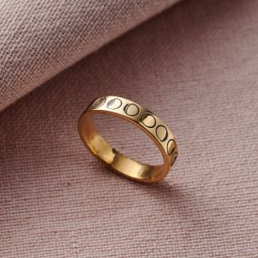 Personalised Phases Of The Moon Ring