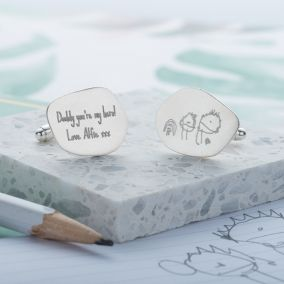 Personalised My Favourite Drawing Cufflinks