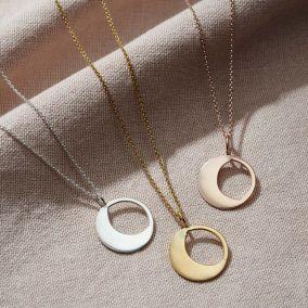 Personalised Large Moonshine Necklace