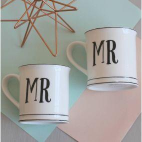 Vintage Style Mr & Mr Ceramic Mugs