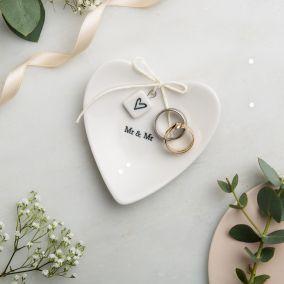 Mr & Mr Ceramic Ring Dish