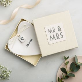 Mr & Mrs Ceramic Ring Dish