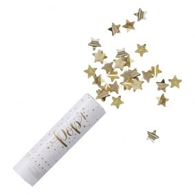 Metallic Gold Star Confetti Cannon