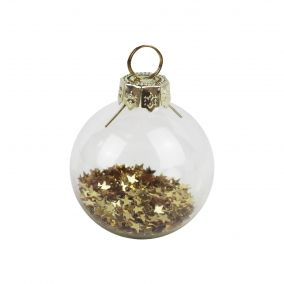 Gold Star Filled Bauble Place Card Holders