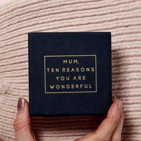 Personalised 'Mum, Ten Reasons You Are Wonderful' Box