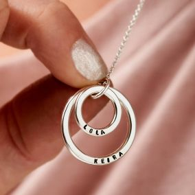 Personalised Mummy And Baby Necklace