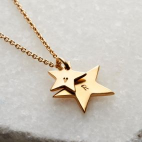 Mummy & Baby Personalised Star Necklace