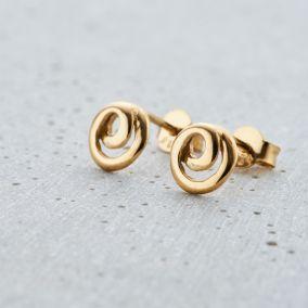 Mini Loop Stud Earrings