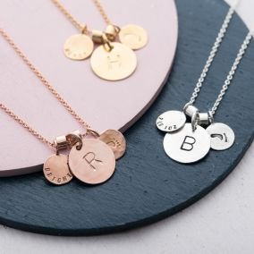 Personalised Baby Birth Charm Necklace