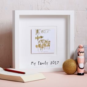 Personalised Gold Foil 'My Favourite Drawing' Picture