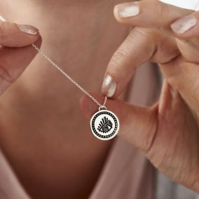 Sunburst Evil Eye Talisman Coin Necklace