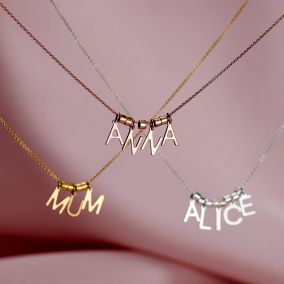 Personalised Name Letter Necklace