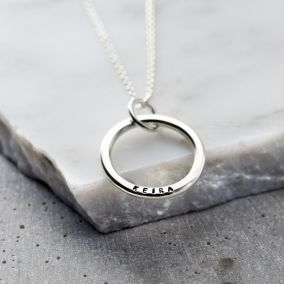 Personalised Family Circle Necklace