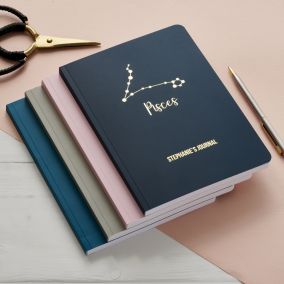 Personalised Star Sign Constellation Notebook