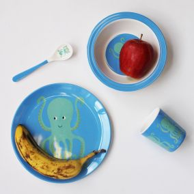 Octopus Melamine Tableware Set