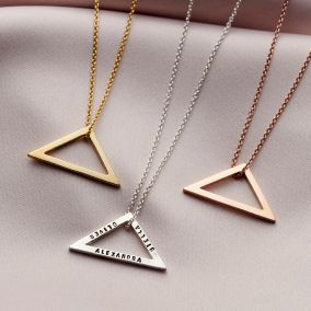 Personalised Open Triangle Necklace
