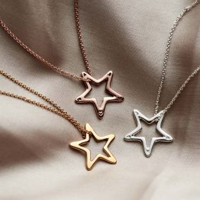 Personalised Open Star Necklace