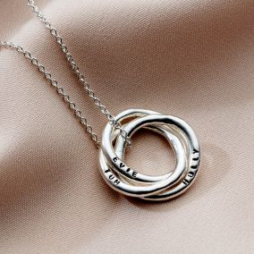 Personalised Organic Russian Ring Necklace