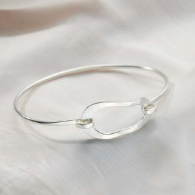 Organic Personalised Open Hoop Bangle