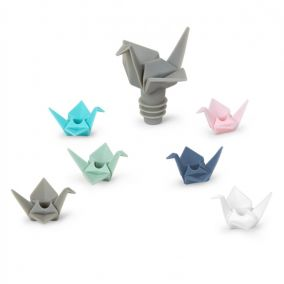 Origami Wine Stopper and Charms Set