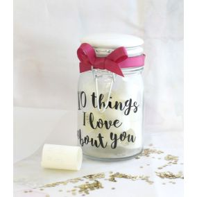 Personalised '10 Things I Love About You' Jar