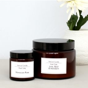 Essential Oil Scented Candle in a Glass Pot