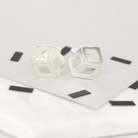 Personalised Cube Deco Cufflinks