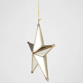 3D Brass Mirror Star Decoration