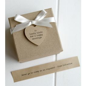 Personalised '10 Tips For A Happy Marriage' Box