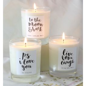 Personalised 'P.S. I Love You' Scented Candle