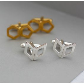 Personalised Geometric Cufflinks