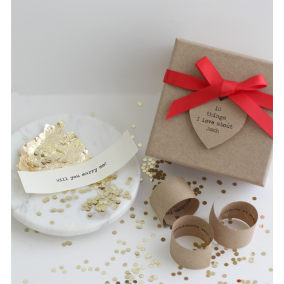 Personalised 'Marry Me'  Box