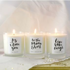 Personalised 'Live, Love, Laugh' Scented Candle