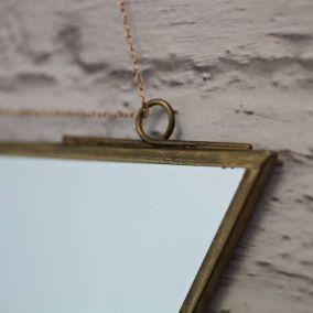 Brass Triangle Mirror