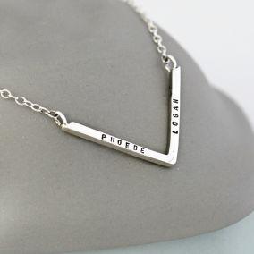 Personalised Chevron Necklace