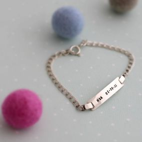 Personalised Christening ID Bracelet