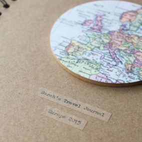 Personalised Vintage Map Globe Travel Journal