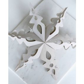 Grey Folding Snowflake Star Decoration
