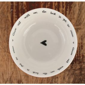 Grow Old With Me Porcelain Trinket Dish
