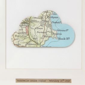 Personalised Cloud Map Nursery Picture