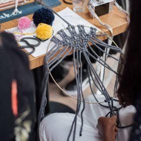 Macrame Pom Pom Wreath Craft Kit