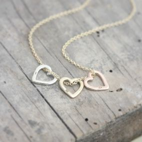 Personalised 9ct Gold Mini Heart Necklace
