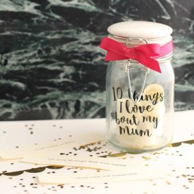Personalised '10 Things I Love About Mum' Jar