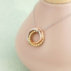 Personalised 9ct Gold Eternity Bead Necklace