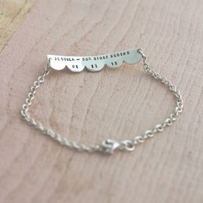 Personalised Scalloped Children's Bracelet