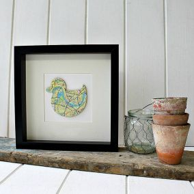 Personalised Duck Map Picture