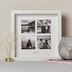 Personalised Four Windows Photo Frame