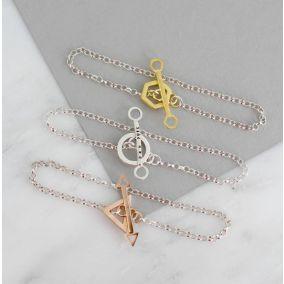 Personalised Geometric Charm Bracelet