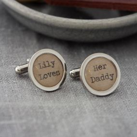 Personalised Love Letter Cufflinks